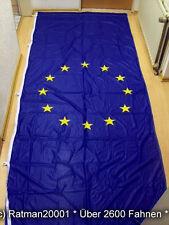 Fahne Flagge Europa Hoch mit 5 Karabinahaken und Hohlsaum - 150 x 400 cm