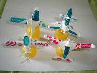 GLIDERS 1998 MODEL AIRPLANES SET - KINDER SURPRISE PLASTIC TOYS MINIATURES
