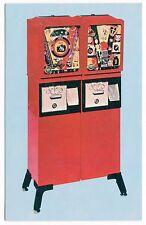 Vintage COIN-OP VENDING MACHINE Advertising Postcard # 1