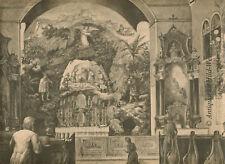 Kastner´sche Krippe-Kapuzinerkirche-Wien.Holzstich 1891