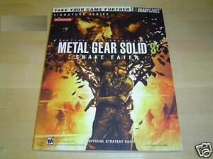 METAL GEAR SOLID 3 GUIDE BRADYGAMES *BRAND NEW*