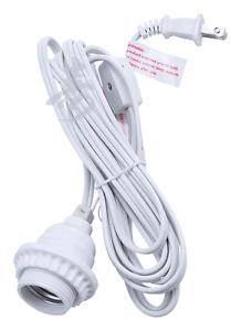 "15 ft Power Cord Kit for 16"" Paper Lanterns, standard plug US system White Color"