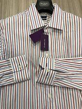 """Paul Smith multistripe Camicia 17"""" Classic Fit Bracciale singolo Made in Italy prezzo consigliato £ 135"""