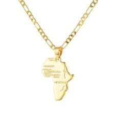 Men Women 18K Gold Plated Africa Continent Map Pendant Necklace Jewelry