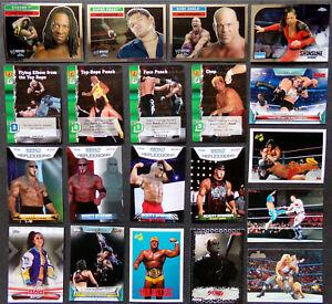 Wrestling Card Lot, Men Women Wrestlers Topps Chrome Hulk Hogan WWF RAW WWE Game