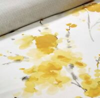Christy Ink Flower Ochre Single Bed Duvet Cover Set
