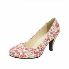 Synthetic Leather Casual Multi-Coloured Heels for Women