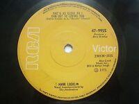 "HANK LOCKLIN & jordanaires like a woman RARE SINGLE 7"" 45 1971 INDIA INDIAN VG+"