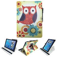 """Bolso tablet para Acer Iconia one 10 b3 a32 estuche lechuzas con flores 10.1"""" 360"""