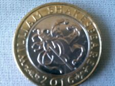 £ 2 Coin Shakespeare LE COMMEDIE-Jesters Cappello-Marotte