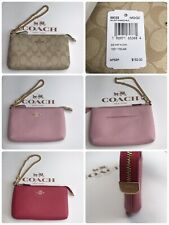 Coach Large Wristlet Coated Canvas, Leather with Chain 88035, 73044