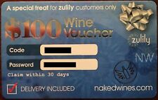 $100 NAKED WINES Voucher nakedwines.com Delivery Wine (exp. 4/20/18)