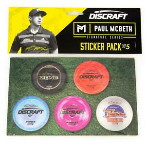 Dicraft Paul McBeth Signature Series Sticker Pack | Five (5) Disc Golf Stickers
