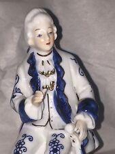 Vintage Retro Kitsch German? IVO Detailed Ornament Figure Figurine Violinist