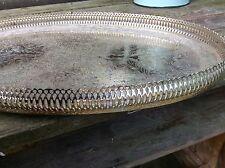 Vintage metal Serving Tray Kitchenalia - Plant Display silver colour, elaborate