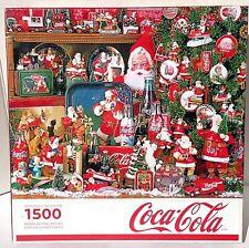 "Springbok ""COCA COLA CHRISTMAS""  1500 Piece Jigsaw Puzzle Santa Christmas"