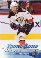 16/17 UPPER DECK YOUNG GUNS CANVAS ROOKIE RC #C215 BRANDON MONTOUR DUCKS *46615