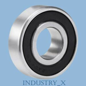 6001-2RS ~ (1pcs) Premium Rubber Shielded Ball Bearing ~ 12 x 28 x 8 ~ 6001 2RS