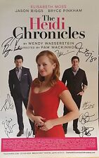 Elisabeth Moss + Cast Signed THE HEIDI CHRONICLES Broadway Poster Windowcard
