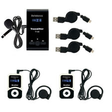 Wireless Church/Tour Guide System Transmitter+Receiver+Microphone for Training