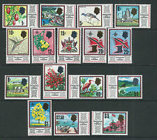TRINIDAD TOBAGO 1969 QEII Pictorials, BIRDS FRUITS long set (Scott 144-59) MNH