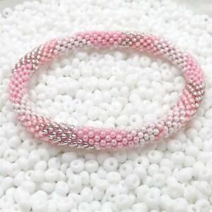 Nepal Bracelet Czech Glass Seed Bead Handmade cotton thread Crochet Bracelets 23