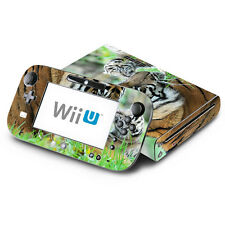 Skin Decal Cover for Nintendo Wii U Console & GamePad - Sweet Baby Tiger Cub