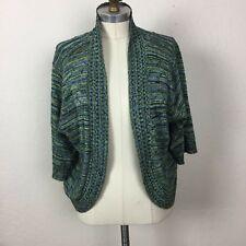 Yarn art 1X Lindo Suéter De Punto Negro Verde Luz abigarrada Bolero. Bs.  137.70 efd2965ad73f5