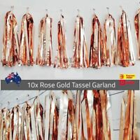 10x Rose Gold Tassel Garland Metallic Hens Birthday Party Decor Balloon Drop AUS