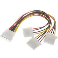 3 Way 4 pin PSU Power Splitter Cable LP4 Molex 1 to 3 CabledUp®
