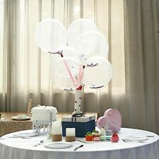 """10 Purple Clear 12"""" Round Latex Balloons with Confetti Party Wedding Decorations"""