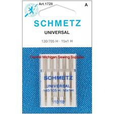 Schmetz Sewing Machine Needles 15x1 Size 18 Fits Singer, Kenmore, White, Elna