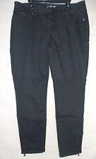 Women's Apt. 9 Black Skinny Zipper Leg Capri Jeans Size 10 NEW!