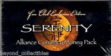 Fan Club Exclusive Edition - Serenity/Firefly Alliance Prop Currency Money Pack