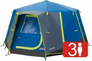 7796 Coleman blue Octago 3 man octagon family tent - new with tags