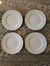 "Set of 4 MIKASA Classic Flair White Calla Lily K1991 8"" Salad Desert Plates"