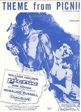 THEME FROM PICNIC-PIANO SOLO SHEET MUSIC-WILLIAM HOLDEN/KIM NOVAK--NEW-1955-RARE