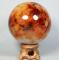 Natural Colorful white Red Orange Carnelian Agate Quartz Crystal Sphere  379g