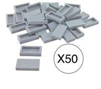 Lego X50 Light Bluish Gray Tile 1x2 / Smooth Finishing Surface Bulk Parts Lot