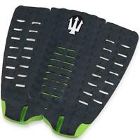 Far King Panther 3 Piece Diamond Traction Surfboard Tail Pad Surfing Black Green