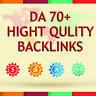 PR9 - DA (Domain Authority) 70+ backlinks