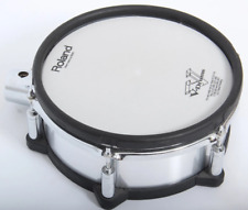 """Roland PD-105X 10"""" Silver Brushed Metal Dual Trigger Mesh Electronic Drum Pad"""