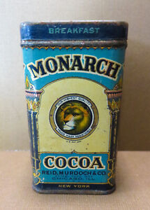 Antique Monarch FREE SAMPLE Cocoa Tin Lion Graphics