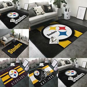 Pittsburgh Steelers Soft Area Rugs Nonslip Fine Fluffy Flannel Carpet Floor Mat