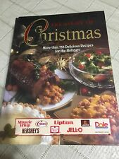 Treasury Of Christmas Holiday Recipes Cookbook,Duncan Hines,Crisco Hersheys.