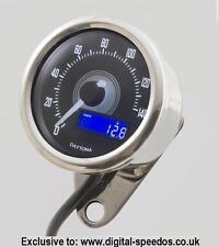 Daytona Velona Speedometer bike 140 MPH/KPH + universal cable drive adapter