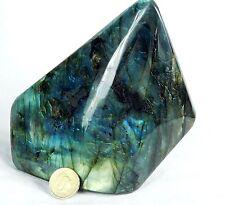 6) Large Polished labradorite iridescent Mineral Crystal Madagascar 1.64KG