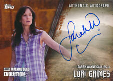 Topps Walking Dead Evolution Autograph A-SWC Lori Grimes 91/99 Brown