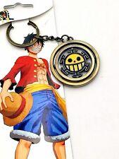 One Piece Trafalgar Law Logo Metal Keychain Bag Car Key Ring Fan Student Gift