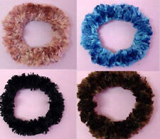 New lot of 2 elastic hair band scrunchy color pink blue black hairdo